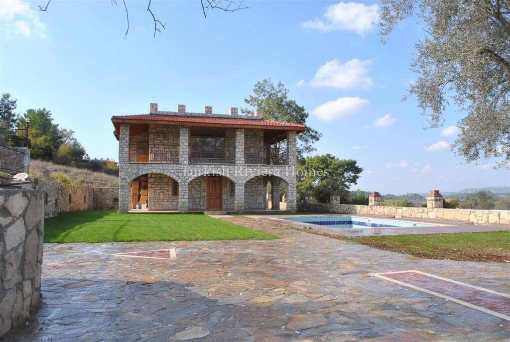 Modern Stone Built Private Villa for sale in Side