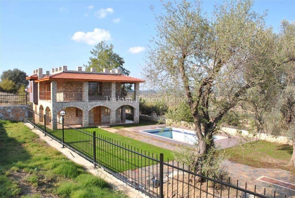 Modern Stone Built Private Villa for sale in Side - Fencing