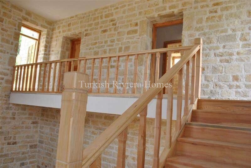 Modern Stone Built Private Villa for sale in Side - Stairs