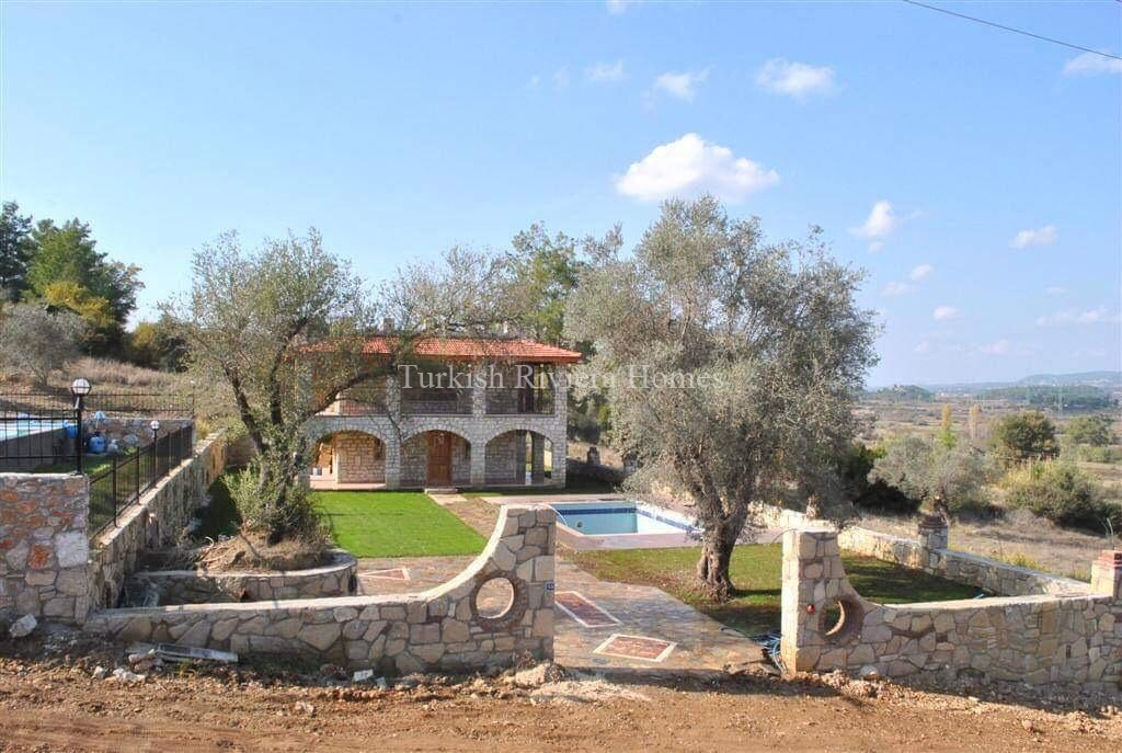 Modern Stone Built Private Villa for sale in Side town of Antalya