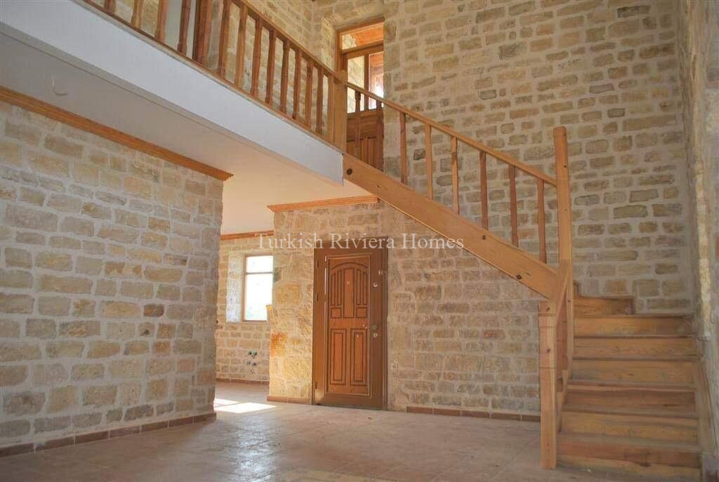 Modern Stone Built Private Villa for sale in Side town of Antalya Drawing